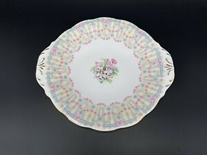 Queen Anne Royal Bridal Gown Cake Plate Bone China England