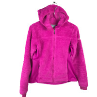 Columbia Womens Polar Yeti Plush Fleece Jacket Size M Bright Pink Full Zip Cozy