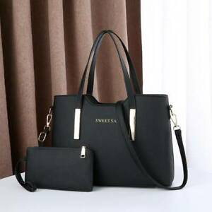 Womens Designer Handbag Set Leather Shoulder Messenger Tote Purse Ladies Bag New