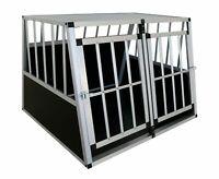 ALU Hundebox Transportbox Hundetransportbox Alubox Autobox Box Gitterbox XXL/XL