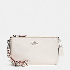 Coach Large Wristlet with Butterfly Studded Strap Chalk Color Style 59525