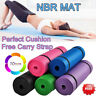 Yoga Mat for Pilates Gym Exercise Carry Strap 10mm Thick Large Comfortable W