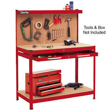 Clarke Workbench (Red) With Pegboard Back  - 7637705 - CWB-R1