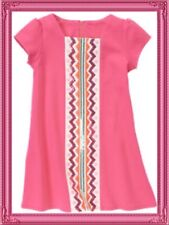 "NWT 12 Gymboree ""WILD FOR HORSES"" hot pink sequin S/S Cotton DRESS SHIFT TUNIC"