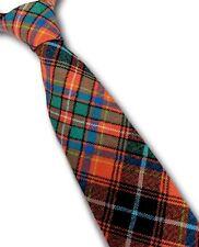Traditionnel Homme Tartan Rouge Cravate Laine Rouge Vert & Bleu à Carreaux Neuf