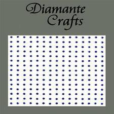 225 x 2mm Dark Blue Diamante Self Adhesive Rhinestone Body Nail Vajazzle Gems