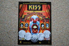 KISS PSYCHO CIRCUS OFFICIAL TOUR LIBERTY MINT COIN PROMO POSTER PRINT RARE NEW