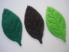 "60 Felt Leaf Leaves Green+Brown 2.5"" Applique/trim/motif/Fall/Craft/Sewing H372"