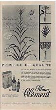 PUBLICITE ADVERTISING 054 1963 Rhum CLEMENT prestige et qualité