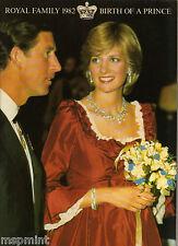 Princess Diana: ROYAL FAMILY 1982 BIRTH OF A PRINCE (WILLIAM) POST CARD BOOK