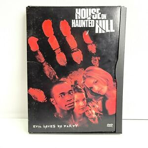 House On Haunted Hill DVD 1999 Horror Movie- RARE Snapcase Flip Cover Edition R4