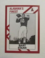 BART STARR Alabama CRIMSON TIDE 1990 COLLEGIATE COLLECTION Football Card #AL2