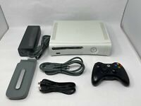 Microsoft Xbox 360 White Console with 20GB HD Controller and Cables -Tested