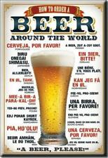 How To Order A Beer Around The World Ice Box Refrigerator Magnet Made In The Usa
