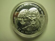 1983 Proof Royal Visit Prince Charles Princess Diana Medal silver COIN ONLY