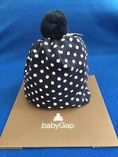 NWT Baby GAP unisex fleece winter hat, BLUE polka dot.  Size S/M