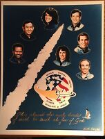 STS Mission 51-L Challenger 01-28-86 Official NASA Photograph Crew Space Shuttle