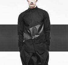 BYUNGMUN SEO $605 asymmetric polyurethane panel button front shirt 46-IT/XS NEW