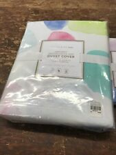Pottery Barn Teen Organic Watercolor Dot Duvet Cover, Full/Queen And One Sham
