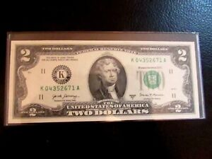 WOW UNCIRCULATED  FANCY  SERIAL NUMBER  NOTE  2017A TWO  DOLLAR BILL