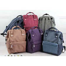 Japan Anello Women Student Linen Cloth Backpack Student Package Travel Bag Solid