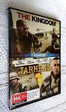 THE KINGDOM / JARHEAD – DVD, 2-DISC, R-2+4, LIKE NEW, FREE POST WITHIN AUSTRALIA