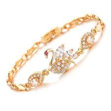 Luxury Cubic Zircon Link Chain Hand Chain Swan Bracelet Bracelets Bangle