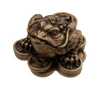 Figura Rana Para la Fortuna Suerte Feng Shui Riqueza En Resina-7089