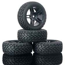 Rubber Tires 905B-8019 Wheels Fit RC HSP HPI 1:10 On-Road Refit 1:16 Rally Car