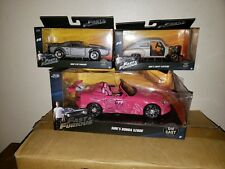 3 Fast & The Furious Diecast Vehicles Dom and Suki's Cars