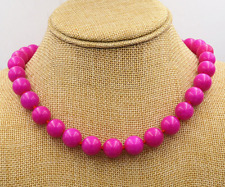 10MM-natural-rose-red-Jade-round-jewel-in-terms-of-necklace-18-034-AAA 12MM-nat