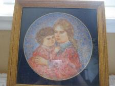 1985 Knowles Mothers Day Erica & Jamie Edna Hibel Plate
