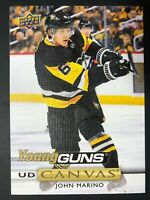 2019-20 UD Young Guns Canvas Rookie John Marino