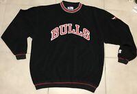 VTG 90s Mens Sz XL Starter Velour Type Chicago Bulls Pullover Sweatshirt Jordan