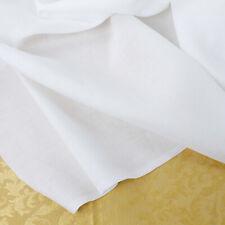 Tessuto 100% Puro Lino al Mezzo Metro, Bianco Puro Alta Qualità - Altezza 300 cm