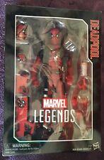 "HASBRO 12"" MARVEL LEGENDS DEADPOOL BOXED ACTION FIGURE #2 X-MEN WOLVERINE"