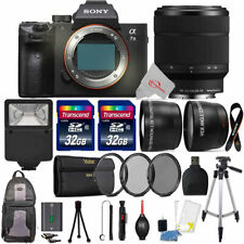 Sony Alpha a7 III Mirrorless Digital Camera w/ 28-70mm Fe OSS Lens and 64GB Kit