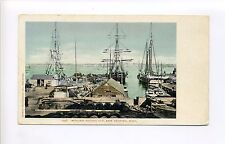 New Bedford MA Mass Wharf, whalers, ships, masts, rigging, Nelsons Boat Bazaar