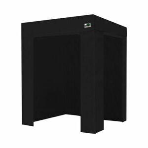 Eurmax 5x5 Flat Top Photo Booth Ez Pop Up Canopy Gazebo Tent+4 Side Walls