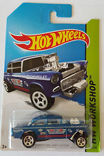 1/64 Hot Wheels 55 Chevy BEL AIR Gasser Blue