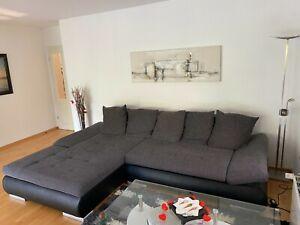 Wohnlandschaft, Polsterecke, Eckcouch, Couch, Ecksofa, Sofa, Rundecke Bettkasten