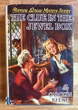 Nancy Drew Vintage Early Printing THE CLUE IN THE JEWEL BOX #20 3rd