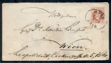 AUSTRIA 5kr postal stationery tied GYOR RAAB to WIEN, unusual cancel