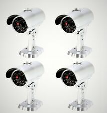 Mitaki-Japan SET of 4 Dummy Fake Bullet Security Camera With Blinking Red Light