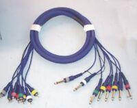 8 Way Multicore / Studiosnake - 8 Mono Jack Plugs - 8 RCA Phono  1.8 Metres long