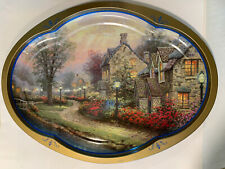Thomas Kinkade Metal Serving Tray Giftco 1997 16 Inches Wide Windermer Cottage