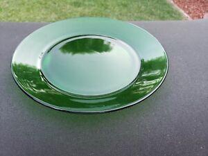 "Forest Green Arcoroc Classique Green (Rim) 8"" Salad Plate"