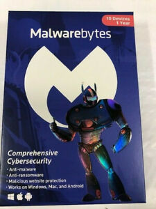 Malwarebytes Premium 4.0 Latest Version 10 USER  1 YEAR (PC MAC) NEW