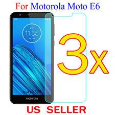 3x Clear LCD Screen Protector Guard Cover Film For Motorola Moto E6