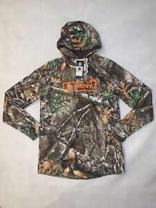 🔥Under Armour Mens Tech Terry Hydro Hunting Hoodie (SM) Orange Forest Camo